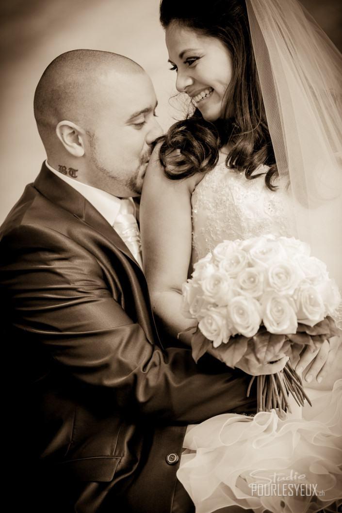sepia mariage photographe geneve amour