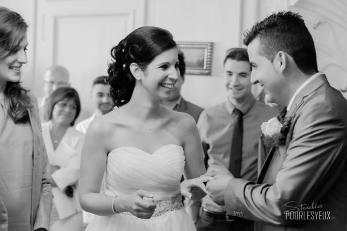 mariage geneve photographe couple noir et blanc