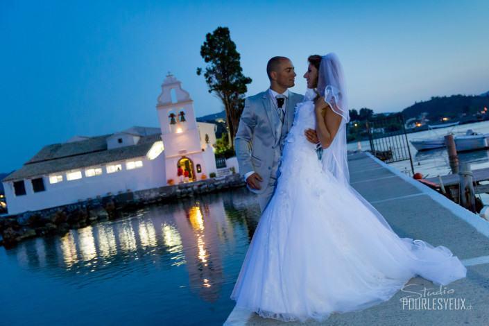 mariage geneve photographe corfou nuit mer