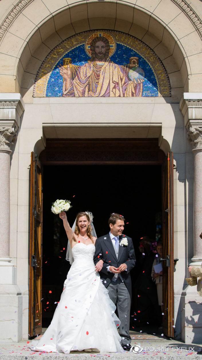 Photographe mariage à l'église à Genève