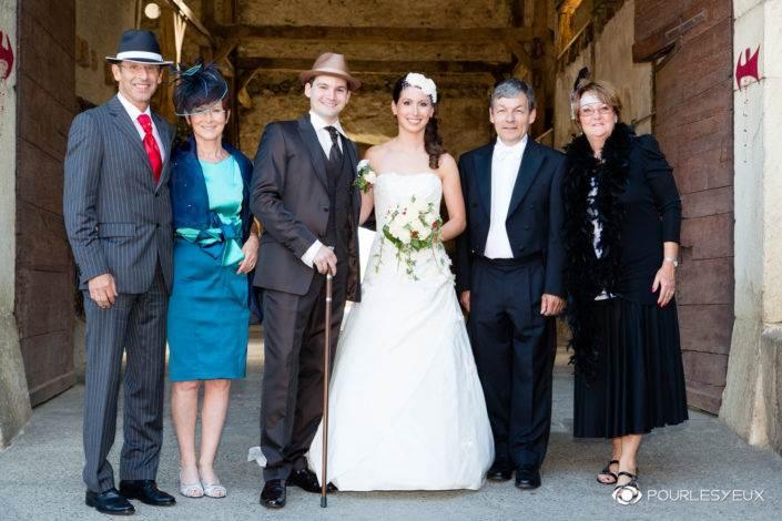 Photographe mariage style retro famille à Genève