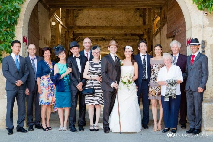 Photographe mariage style retro groupe à Genève Suisse