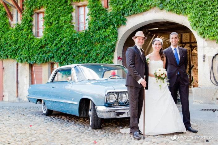 Photographe mariage style retro à Genève