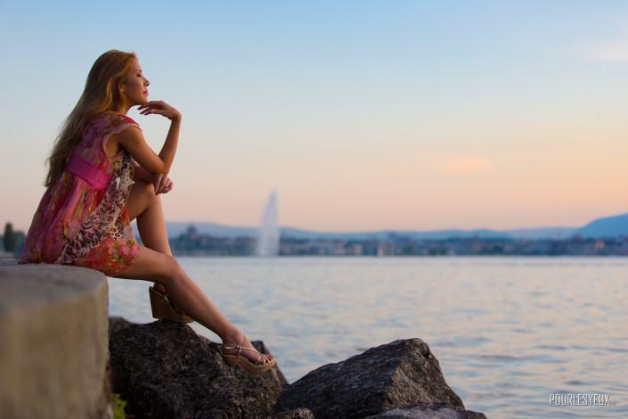 photographe fashion geneve rade femme exterieur