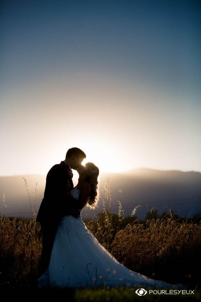 Coucher de soleil romantique sur le Jura