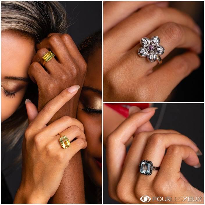 Différents modèles de bijoux par: Jérôme Hess et Alexia Karen, créateurs de bijoux a Genève.