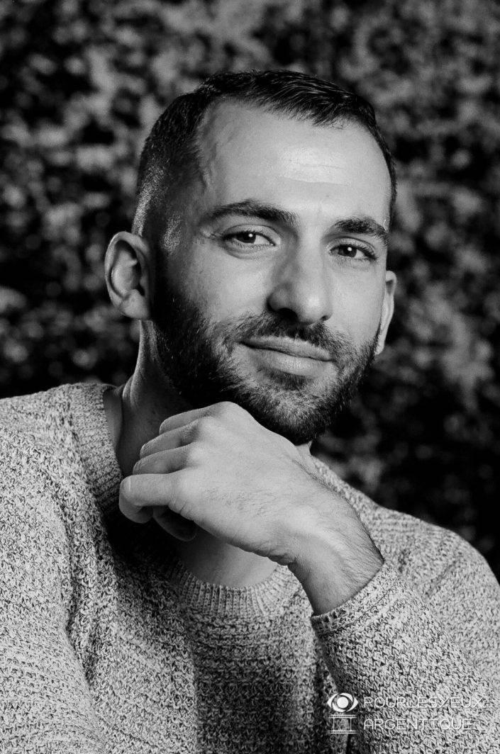 portrait photographe genève séance photo argentique homme