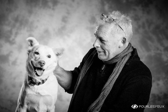 portrait photographe genève séance photo chien homme animal petshoot petbook