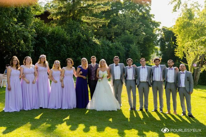 Photographe mariage Genève suisse famille groupe témoins extérieur