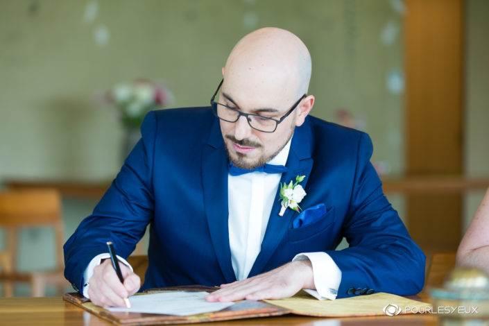 Photographe mariage Genève mairie marié marier extérieur suisse portrait