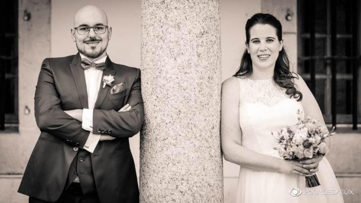 Photographe mariage Genève sepia marié marier mairie union couple amour